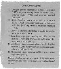 essay on jim crow laws The jim crow laws is one of the most popular assignments among students' documents if you are stuck with writing or missing ideas, scroll down and find inspiration in.